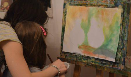 Atelier de pictura alaturi de parinti